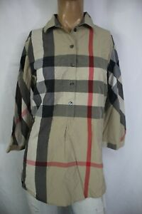 BURBERRY BRIT CAMICIA DONNA TG. M WOMAN SHIRT CASUAL VINTAGE A125