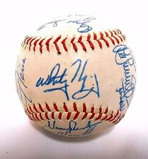 Ozzie Smith Whitey Herzog 1987 St Louis Cardinals Team Signed Autograph Baseball