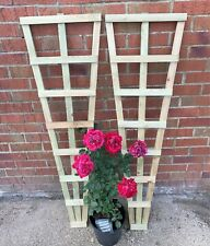 Pair of Heavy Duty Fan Trellis Garden Timber Plant Support UK made Free P&P 4ft
