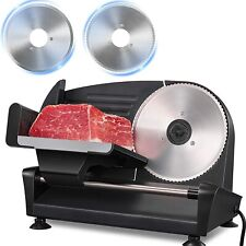 More details for 200w meat slicer 2 removable 19cm stainless steel blades electric machine home