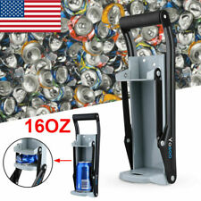 2in1 16OZ Can Crusher Wall Mount Aluminum Pop Beer Crush Recycling Bottle Opener