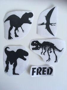 Personalised Dinosaur Decal Glass Vinyl Sticker Jurrasic T Rex Park Any Name