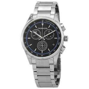 Calvin Klein Completion Chronograph Quartz Black Dial Men's Watch KAM27141