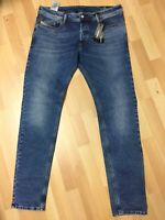 Men Diesel SLEENKER LYOCELL Stretch Denim 084UU BLUE SLIM W36 L32 H6.5 RRP£150