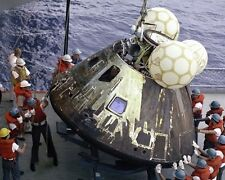 New 8x10 NASA Photo: Odyssey, Apollo 13 Command Module after Splashdown