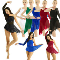 Women's Ballet Dance Dress Leotard Lyrical Modern Contemporary Latin Dancewear
