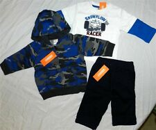 Hoodie Pant Set 3pc Blues Gymboree Fall Winter Boy 6-12 mo New