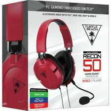 Turtle Beach Recon 50 Red Stereo Gaming Headset Nintendo Switch / Windows PC NEW
