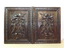French Antiquity, Stunning old doors in solid oak, birds decor