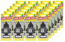 25pcs BLACK ICE Scents Little Trees Hanging Car & Home Scents Air Freshener