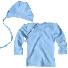 Living Crafts Set Bébé Manches Longues Chemise Bonnet Bio Coton Bleu 74 80