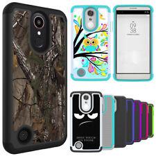 For LG Aristo 2, Zone 4, K30, Stylo 4 Case Hybrid Armor Shockproof Phone Cover