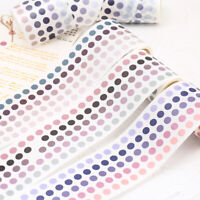 Colorful Dots Washi Tape Japanese DIY Adhesive Decorative Sticker Paper Planner