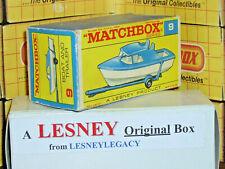 Matchbox Lesney 9d Cabin Cruiser Boat & Trailer Type F2 EMPTY ORIGINAL BOX ONLY