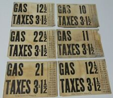 6 Early Visible Gas Pump Price Inserts Double Sided Man Cave Decor Rutledge