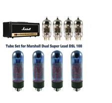 Tube Set Marshall Dual Super Lead DSL100 Blue Glass Matched Quad + JJ Gold 12AX7