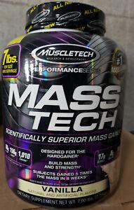 Muscletech Mass Tech Mass Gainer Protein Hardgainer Choose Flavor Masstech 7lbs