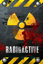 "Bloody Radioactive Zombie 8"" x 12"" Aluminum Metal Sign"