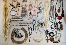 Job lot  jewellery upcycling modern shell necklaces black gold silver stone