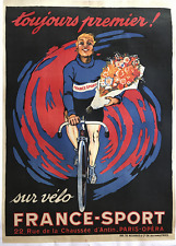 France-Sport - Original Vintage Bicycle Poster - Cycling