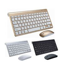 Ultra Slim Wireless Keyboard With Mouse Set 2.4G IOS Android For Mac Notebook PC