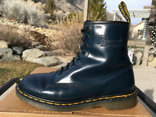 90's Vintage Dr. Martens Navy Blue US 9 Boots England 1460 doc shoes 8-eye uk7