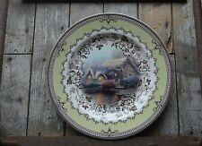 "New Listingbeautiful 2005 Thomas Kinkade Inspired Home Spode Cottage 10 1/2"" plate"