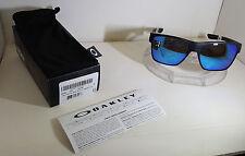Oakley TWO FACE XL SUNGLASSES MATTE BLACK / SAPHIRE IRIDIUM  POLARIZED OO9350-05