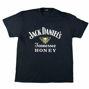 *JACK DANIELS* Honey Mens Black Tee T Shirt UNISEX L Graphic Logo Whisky Bourbon