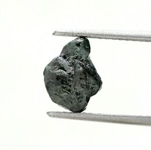 Big Uncut Diamond 2.50Ct Grayish Blue Sparkling Natural Irregular shape for Ring