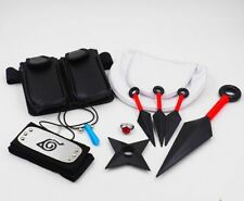10pcs Naruto Cosplay Kunai Necklace Bag Headband Ring Collection Cosplay Prop