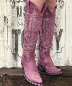 """L1213-32 OLD GRINGO MAYRA 18"""" VESUVIO PINK EMBROIDERED BOOTS"""