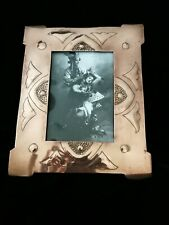NICE ARTS AND CRAFTS, NOUVEAU STYLE COPPER PHOTO FRAME