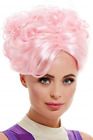 Trapeze Artist Wig, Pink, with Curls NEW