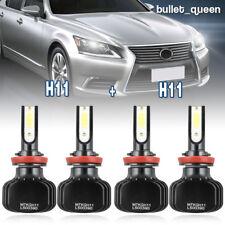 4x H8 H9 H11 LED Headlight Kit 2000W 300000LM High Low Beam Fog Bulb 6000K White