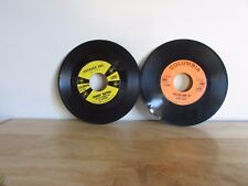 """Lot of 2 JOHNNY MATHIS Chances Are What Will Mary Say 7"""" 45 RPM Columbia Records"""