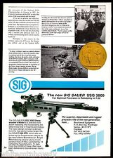 1993 SIG SAUER SSG 3000 Rifle UK AD Collectible Advertising