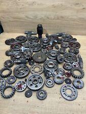 Industrial Machine Age Steel Lot 64 Gears/Cogs Steampunk Art Parts Lamp Base