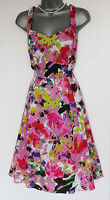 MONSOON UK 12 Pink BLOOM Floral Print Sweatheart Neck Party Short Dress  £109