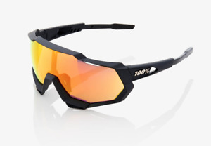 100% Cycling Unisex Adult Speedtrap Soft Tact Black HiPER Red Lens