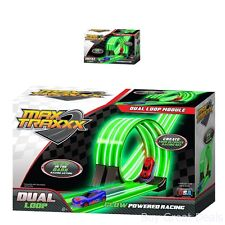 Tracer Race Car Track Dual Loop Gravity Drive Remote Control Sets Glowing Toy