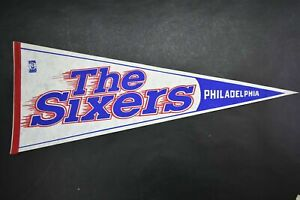 Vintage Philadelphia 76ers The Sixers Hanging Wall Pennant Licensed NBA 80's