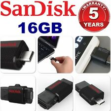 16GB USB Drive Sandisk OTG Ultra Dual Micro USB 3.0 Android Flash Memory Stick