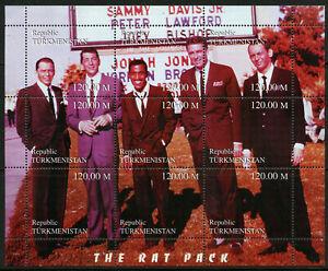 The Rat Pack Sinatra Dean Martin mnh Miniature Sheet 1999 Turkmenistan