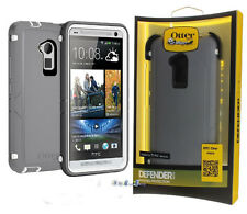 OEM OtterBox Defender Case in Glacier Gray and Belt Clip Holster for HTC One Max