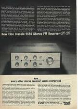 1964 Eico Classic 2536 Stereo FM Receiver Ad/Flushing NY
