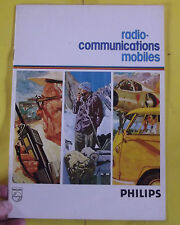 Ancien Fascicules Catalogue Radio-Communications Mobiles PHILIPS vintage