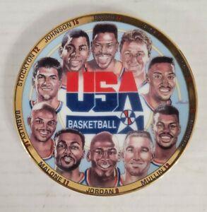 """USA 1992 Dream Team Basketball Porcelain 4 1/4"""" Plate ''The First Ten Chosen''"""