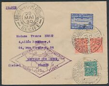 SI #59C BRAZIL ON 1ST EUROPE PAN-AM ROUND FLIGHT COVER TO FRANCE BR2375