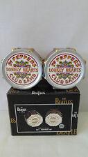 Vandor 1999  Beatles Sgt. Pepper Drum Salt and Pepper Shakers MIB #K109